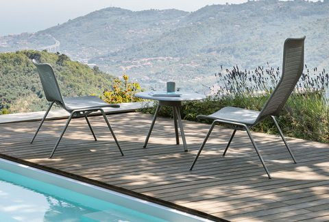 modern patio furniture Zebra Knit collection