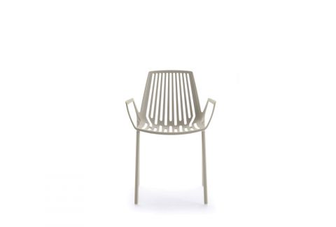 stackable outdoor chair with armrests
